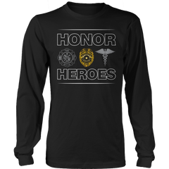 Limited Edition - Honor Heroes-POLICE Long Sleeve / Black / S