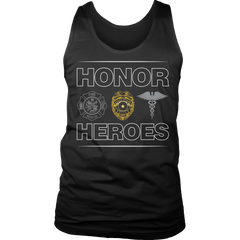 Limited Edition - Honor Heroes-POLICE Tank Top / Black / S