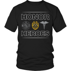 Limited Edition - Honor Heroes-POLICE Unisex Shirt / Black / S