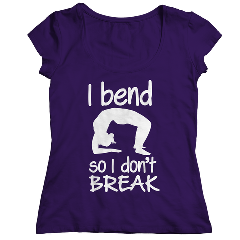 Limited Edition - I Bend So I Don't Break Ladies Classic Shirt / Purple / S