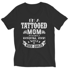 Limited Edition - I'm A Tattooed Mom Ladies V-Neck / Black / S