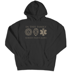 Limited Edition - In This Family Nobody Fights Alone Hoodie / Black / S