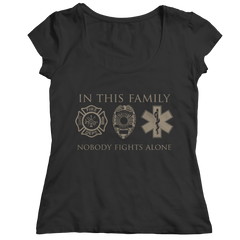 Limited Edition - In This Family Nobody Fights Alone Ladies Classic Shirt / Black / S