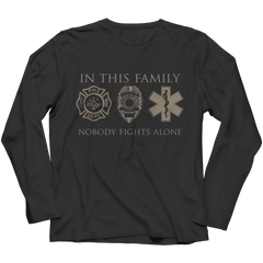 Limited Edition - In This Family Nobody Fights Alone Long Sleeve / Black / S