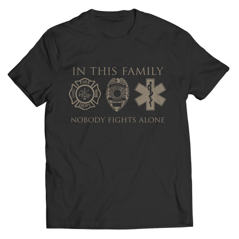 Limited Edition - In This Family Nobody Fights Alone Unisex Shirt / Black / S