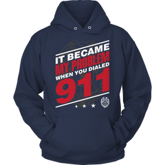 Limited Edition - It Became My Problem-POLICE Hoodie / Navy / S