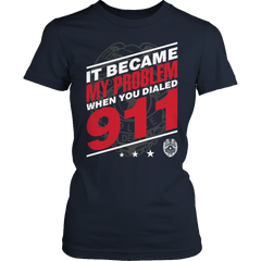 Limited Edition - It Became My Problem-POLICE Ladies Classic Shirt / Navy / S