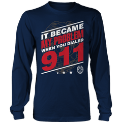 Limited Edition - It Became My Problem-POLICE Long Sleeve / Navy / S