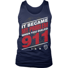 Limited Edition - It Became My Problem-POLICE Tank Top / Navy / S