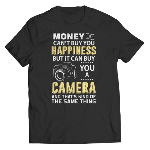 Limited Edition - Money Can't Buy You Happiness Unisex Shirt / Black / S