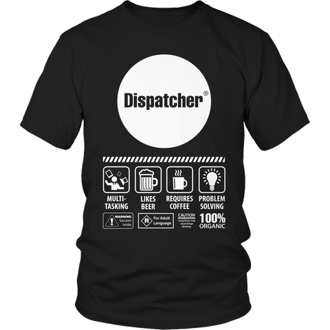 Limited Edition - Multi-Tasking Dispatcher Unisex Shirt / Black / S