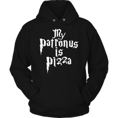 Limited Edition -  My Patronus Is Pizza Hoodie / Black / S