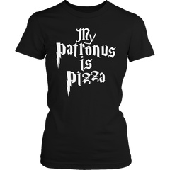 Limited Edition -  My Patronus Is Pizza Ladies Classic Shirt / Black / S