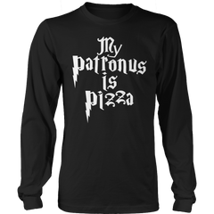 Limited Edition -  My Patronus Is Pizza Long Sleeve / Black / S