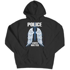 Limited Edition - Police Wings Hoodie / Black / S