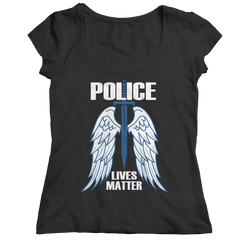 Limited Edition - Police Wings Ladies Classic Shirt / Black / S