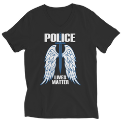 Limited Edition - Police Wings Ladies V-Neck / Black / S