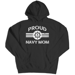 Limited Edition - Proud Navy Mom Hoodie / Black / S