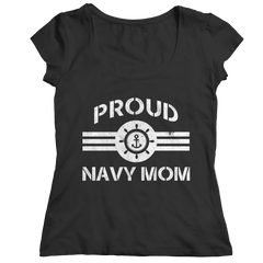 Limited Edition - Proud Navy Mom Ladies Classic Shirt / Black / S