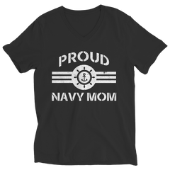 Limited Edition - Proud Navy Mom Ladies V-Neck / Black / S