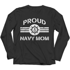 Limited Edition - Proud Navy Mom Long Sleeve / Black / S