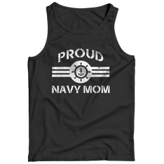 Limited Edition - Proud Navy Mom Tank Top / Black / S