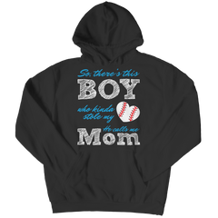 Limited Edition - So, There's this Boy who kinda stole my heart. He calls me Mom (baseball) Hoodie / Black / S