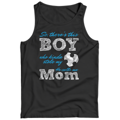 Limited Edition - So, There's this Boy who kinda stole my heart. He calls me Mom (soccer) Tank Top / Black / S