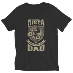 Limited Edition - Some call me a Biker But the Most Important ones call me Dad Ladies V-Neck / Black / S