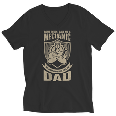 Limited Edition - Some call me a Mechanic But the Most Important ones call me Dad Ladies V-Neck / Black / S