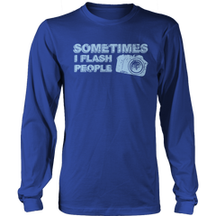 Limited Edition - Sometimes I Flash People Long Sleeve / Royal Blue / S