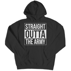 Limited Edition - Straight Outta the Army Hoodie / Black / S