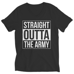 Limited Edition - Straight Outta the Army Ladies V-Neck / Black / S