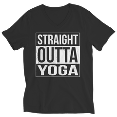 Limited Edition - Straight Outta Yoga Ladies V-Neck / Black / S