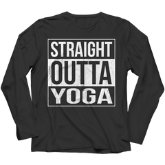 Limited Edition - Straight Outta Yoga Long Sleeve / Black / S