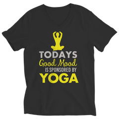 Limited Edition - Today's Good Mood Is Sponsored By Yoga Ladies V-Neck / Black / S