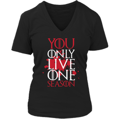 Limited Edition -  Y.O.L.O.S Ladies V-Neck / Black / S