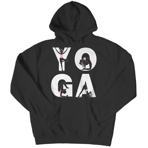 Limited Edition - Yoga Positions Hoodie / Black / S