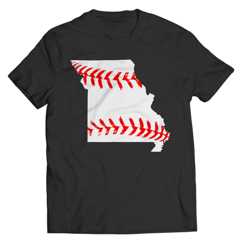 Missouri Baseball Unisex Shirt / Black / 4XL