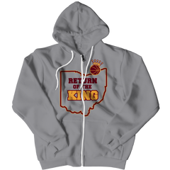 Return Of The King Zipper Hoodie / Athletic Heather / 3XL