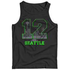 Seattle Number 12 Tank Top / Black / 3XL
