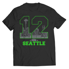 Seattle Number 12 Unisex Shirt / Black / 3XL