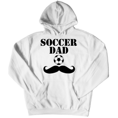 Soccer Dad Moustache Hoodie / White / 3XL