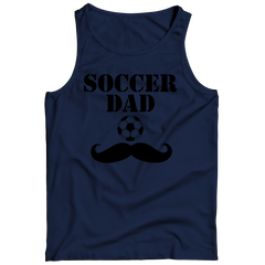 Soccer Dad Moustache Tank Top / Navy / 3XL