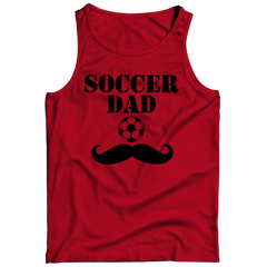 Soccer Dad Moustache Tank Top / Red / 3XL