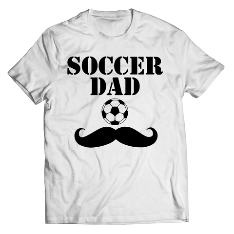Soccer Dad Moustache Unisex Shirt / White / 3XL