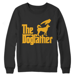 The Dogfather Crewneck Fleece / Black / 3XL