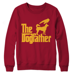 The Dogfather Crewneck Fleece / Crimson / L