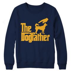 The Dogfather Crewneck Fleece / Navy / S