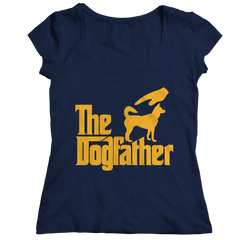 The Dogfather Ladies Classic Shirt / Navy / 2XL